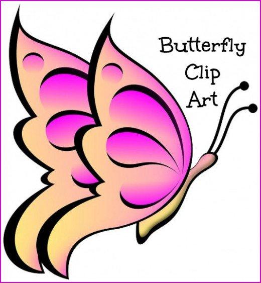 520x563 Butterflies Clipart Small