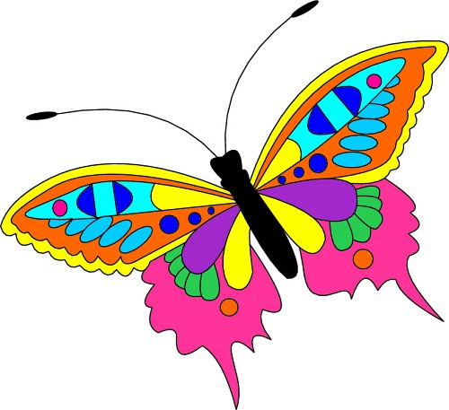 500x457 Free Butterfly Cliparts, Hanslodge Clip Art Collection