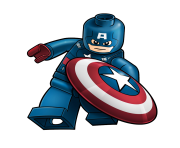 180x148 Captain America Lego Hd Clip Art Png Background