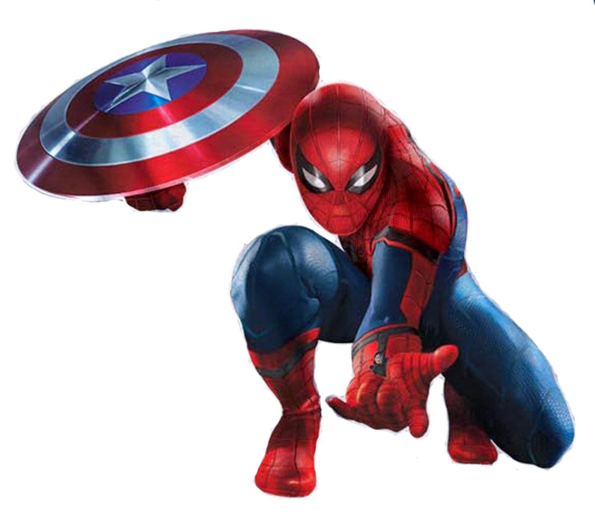 1200x1044 Spider Man Captain America Marvel Cinematic Universe Film Art