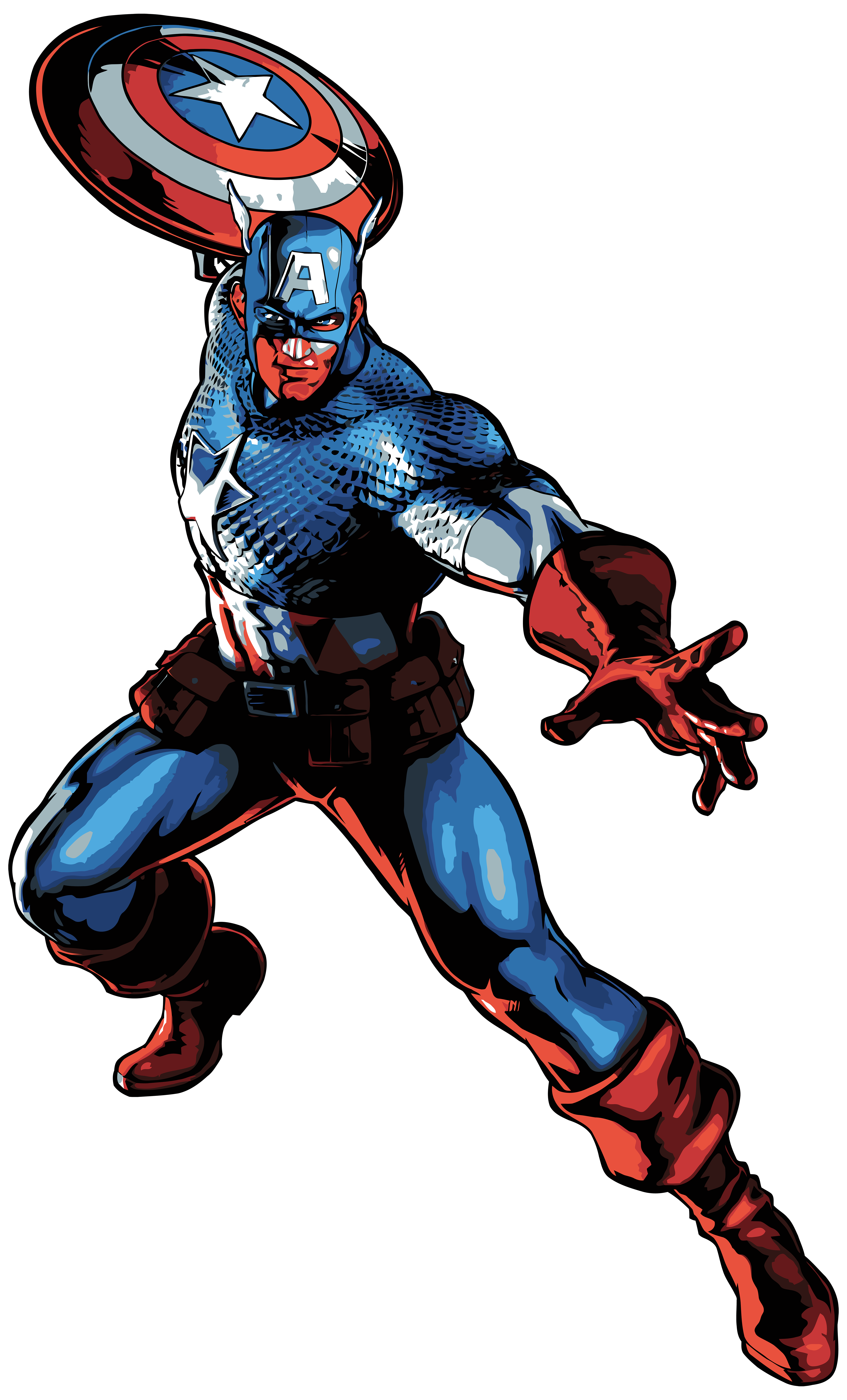 4840x8000 Captain America Cartoon Png Clip Art Imageu200b Gallery Yopriceville