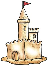 169x230 Bold Design Sand Castle Clipart Man Building A Huge Royalty Free