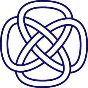 297x299 Celtic Knot Navy Clip Art