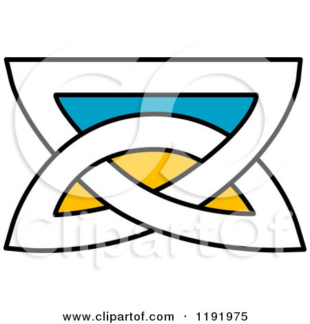 450x470 Clipart Of A Colorful Celtic Knot Design Element 8