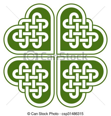 450x470 4 Leaf Clover Shaped Celtic Knot Four Leaf Clover Shaped