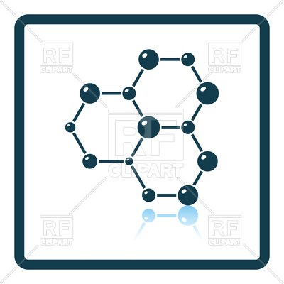 400x400 Icon Of Chemistry Hexa Connection Of Atoms Royalty Free Vector