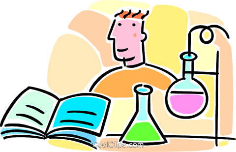 480x309 Student In Chemistry Class Royalty Free Vector Clip Art