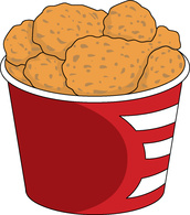 172x195 Clipart Of Fried Chicken