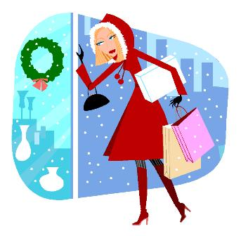 343x336 Christmas Shopping Clipart 1144119 Illustration By Peachidesigns