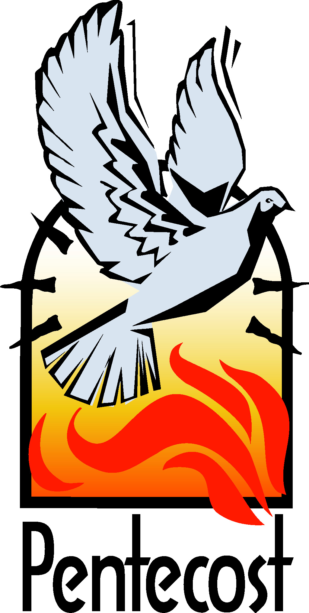 1024x2028 Free Christian Clipart For Pentecost