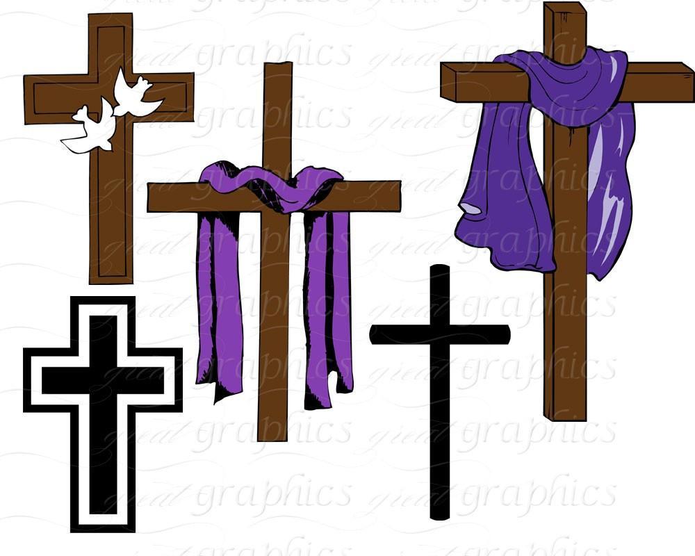 1000x800 Easter Crosses Clipart