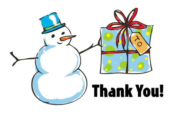 765x487 Christmas Thank You Clipart