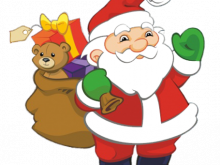 220x165 Father Christmas Clipart Childs Christmas Clipart Santa And Kids