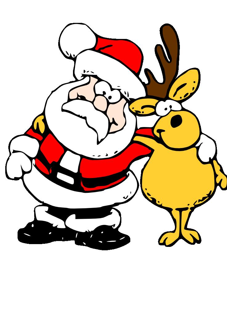 737x1000 Santa And Reindeer Hugging Cute