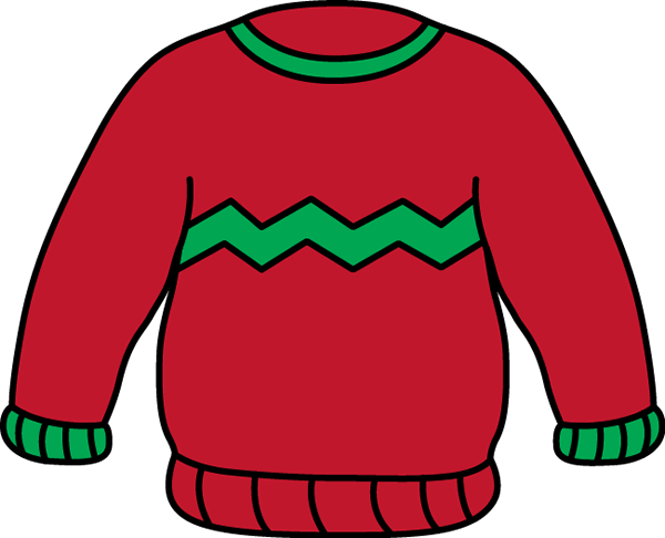 600x486 Sweater Clip Art