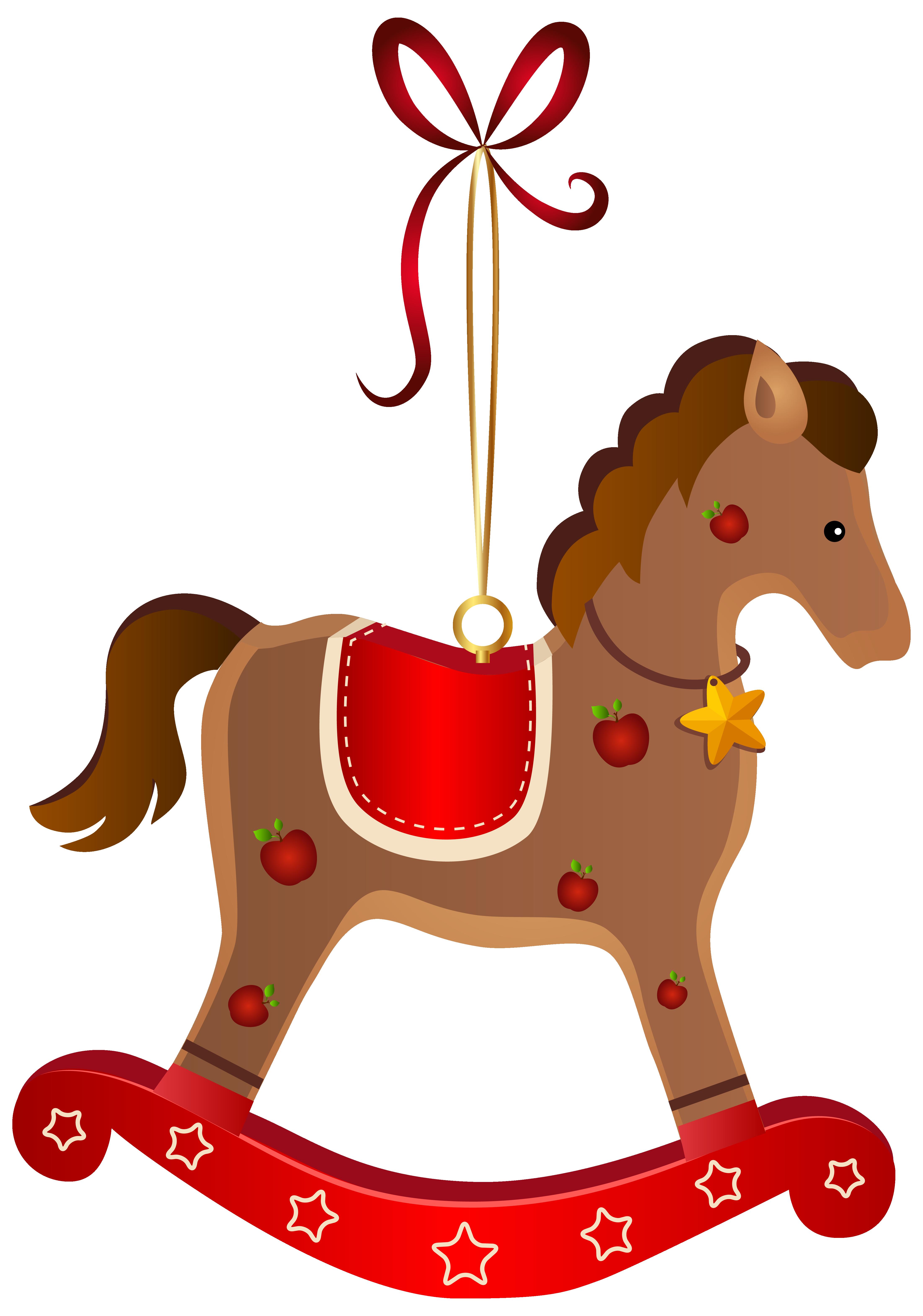 4406x6283 Rocking Horse Christmas Ornament Transparent Png Clip Art Image
