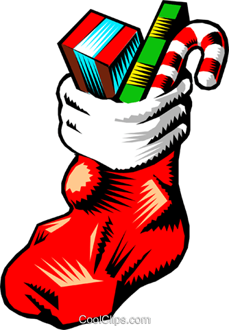 334x480 Christmas Stocking Royalty Free Vector Clip Art Illustration