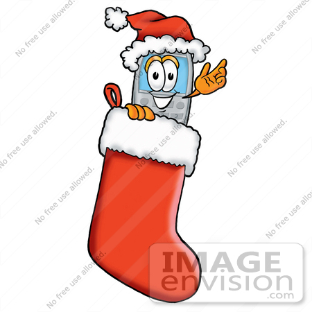 450x450 Cliprt Graphic Of Gray Cell Phone Cartoon Character Wearing