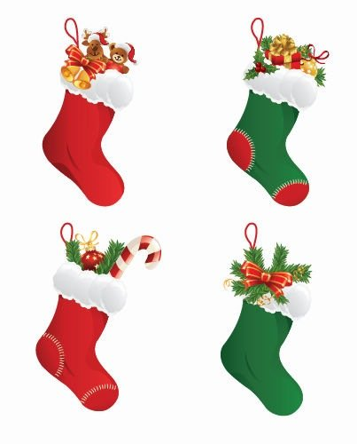 403x500 Free Christmas Stockings Clipart And Vector Graphics