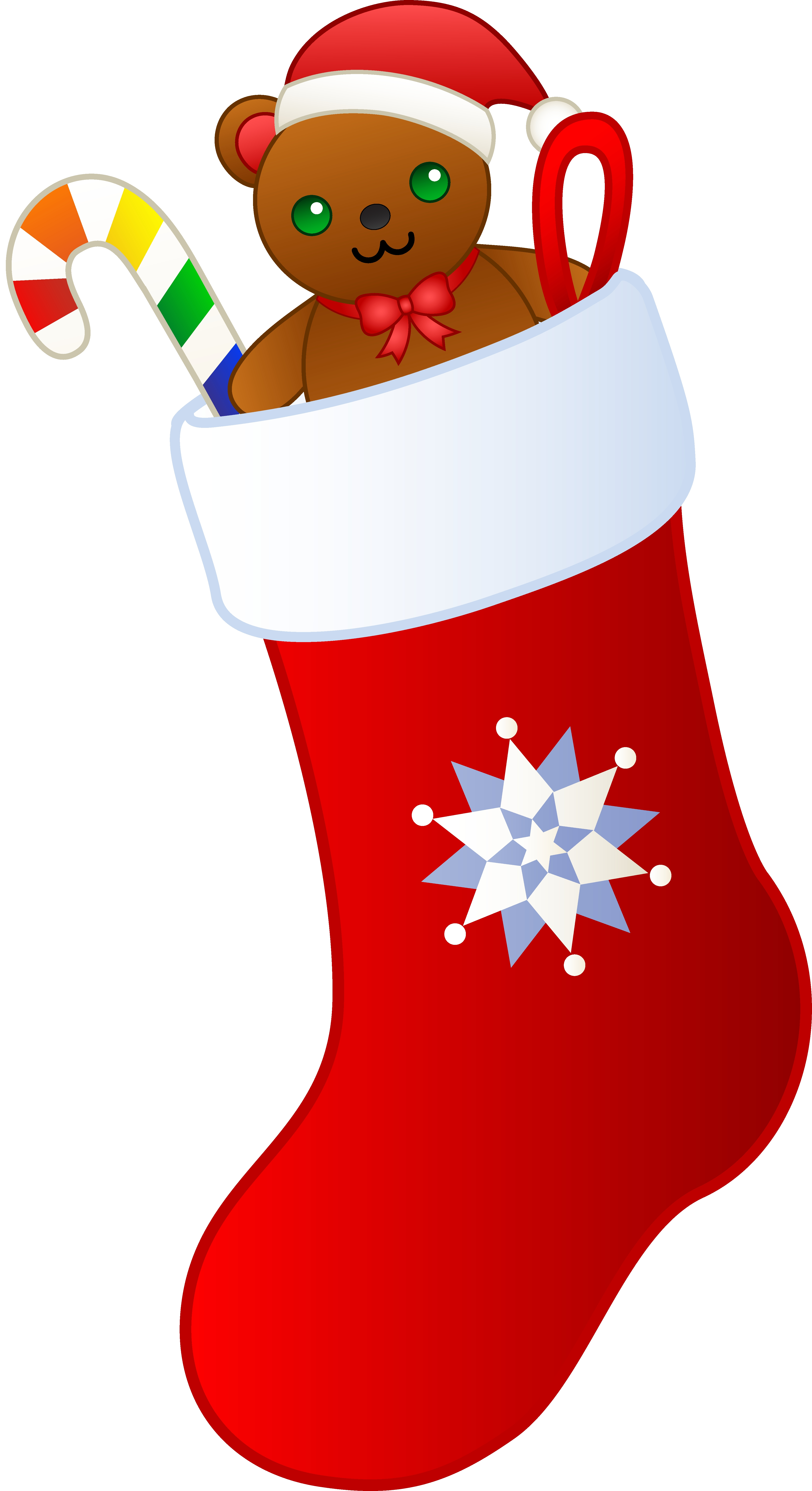 4037x7412 Fresh Christmas Stocking Clipart Design
