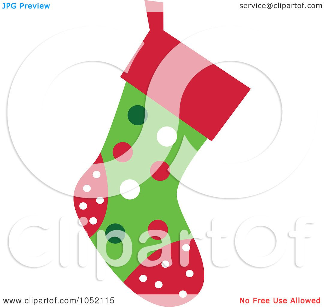 1080x1024 Royalty Free Vector Clip Art Illustration Of A Christmas Stocking