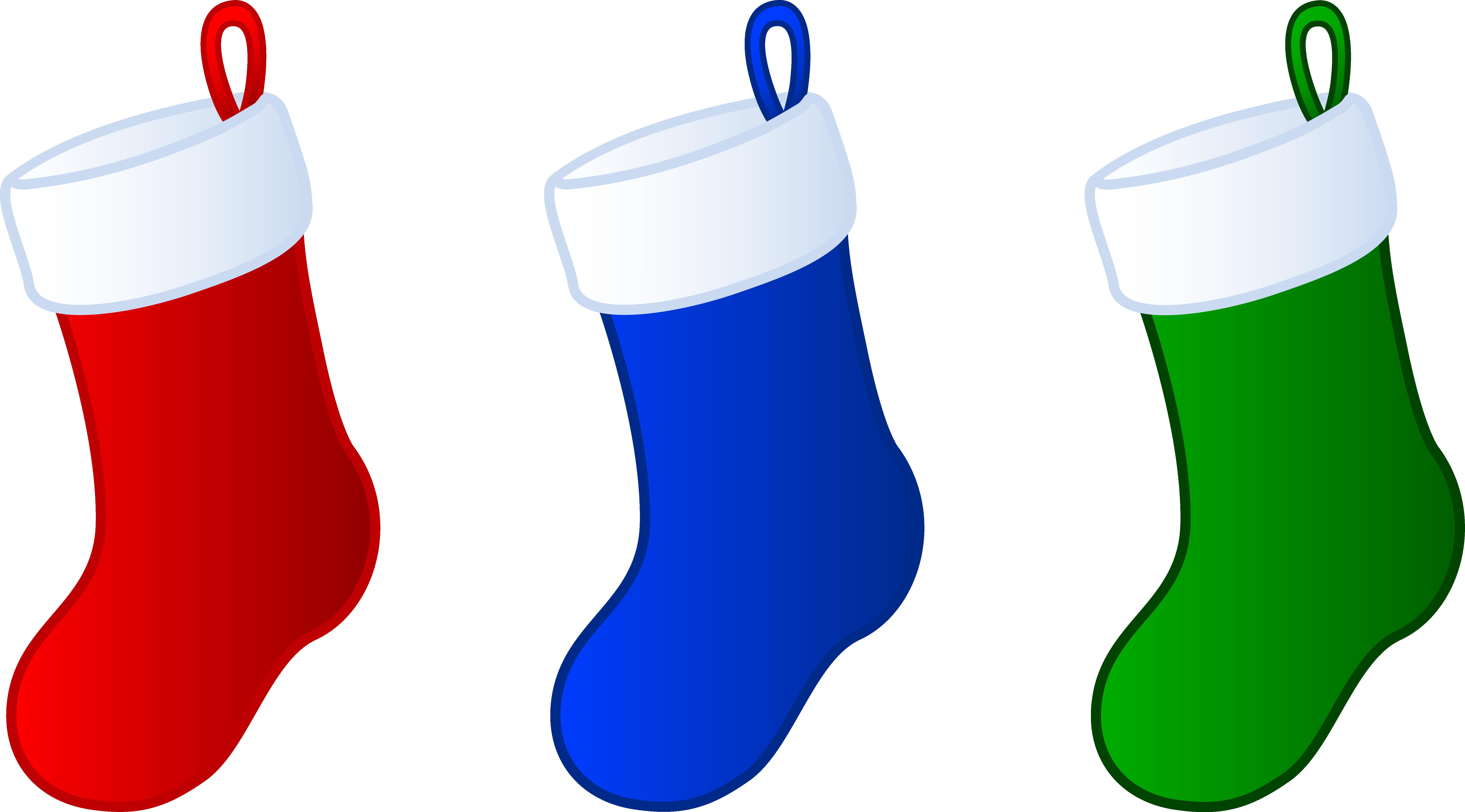 7198x3992 Three Simple Christmas Stockings Free Clip Art Extraordinary