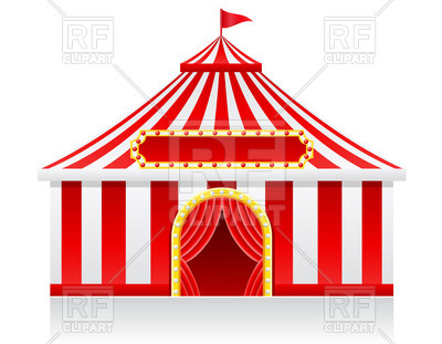 400x311 Circus Tent Royalty Free Vector Clip Art Image