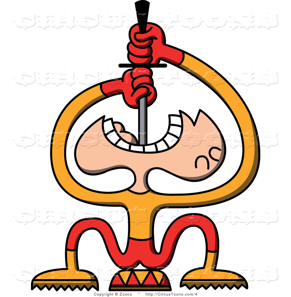 1024x1044 Circus Clipart Of A Sword Swallower By Zooco