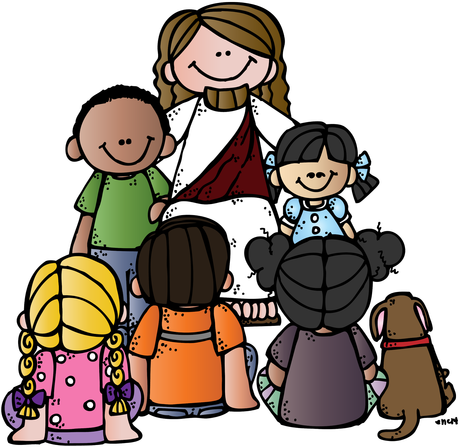 1600x1562 Luxurious And Splendid Jesus With Children Clip Art Top 84 Free