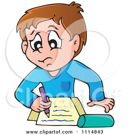 450x470 Children Writing Clipart