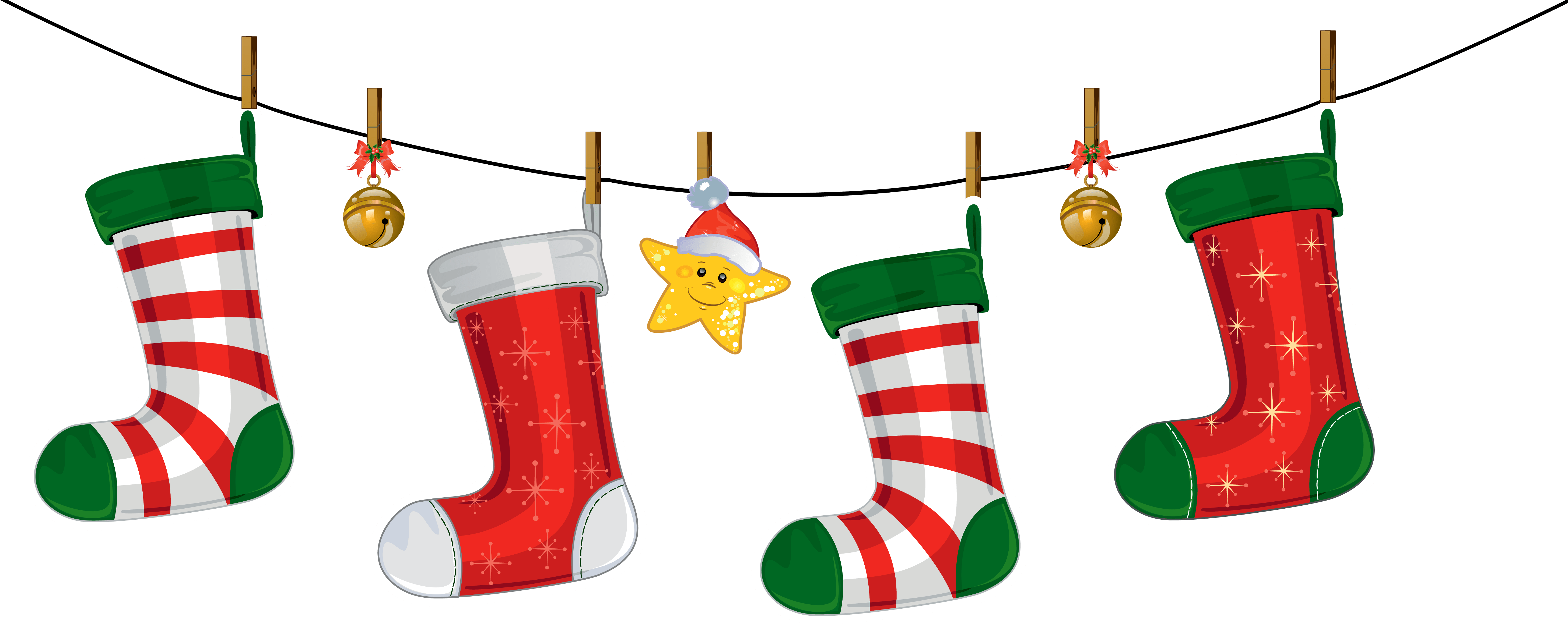Free Clipart Christmas Stocking at