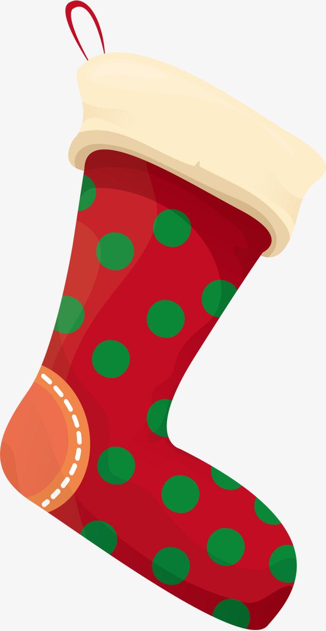 650x1256 christmas red socks christmas stockings watercolor little fresh - Free Clip Art Christmas