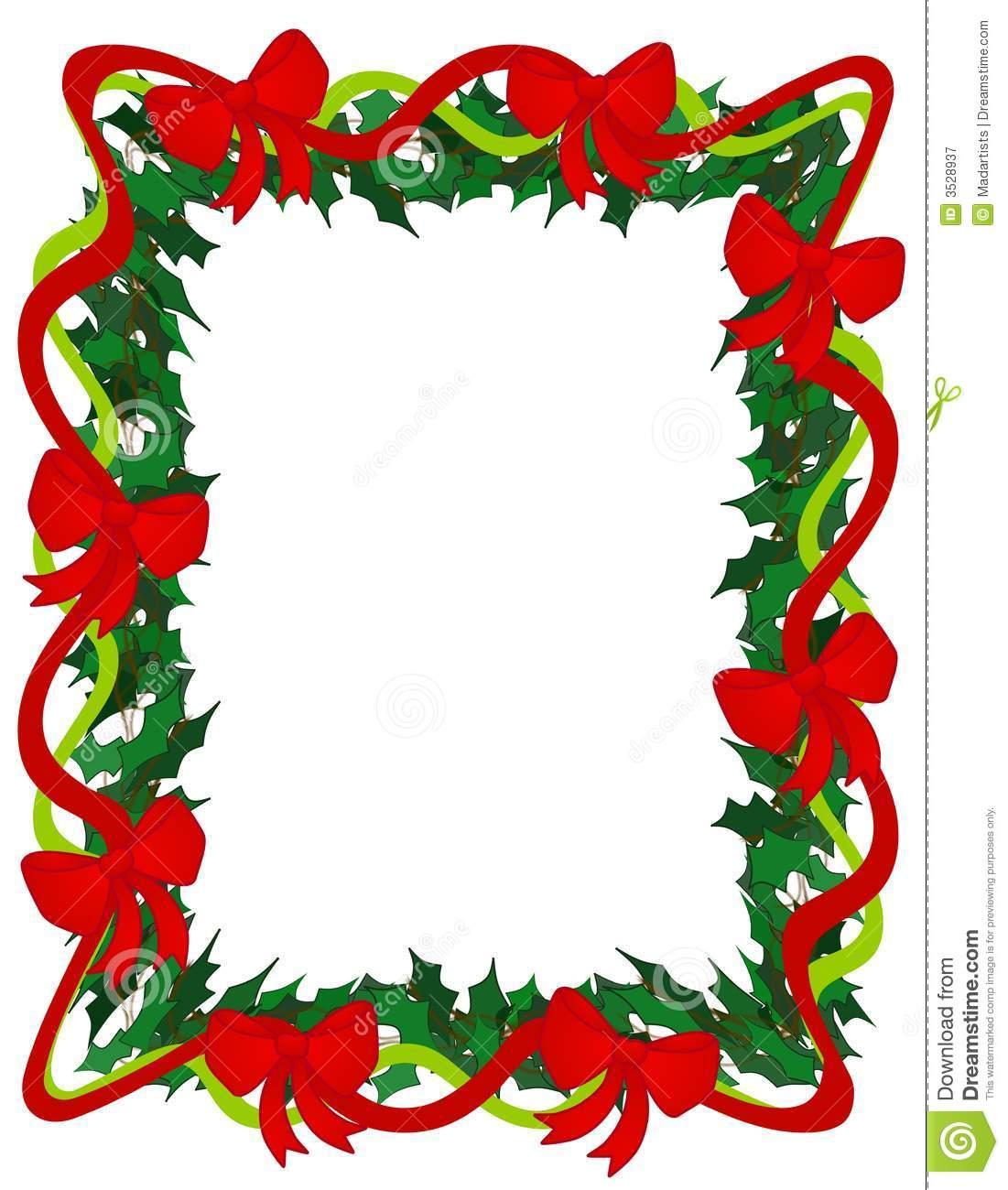 1101x1300 Christmas Ribbon Border Clip Art