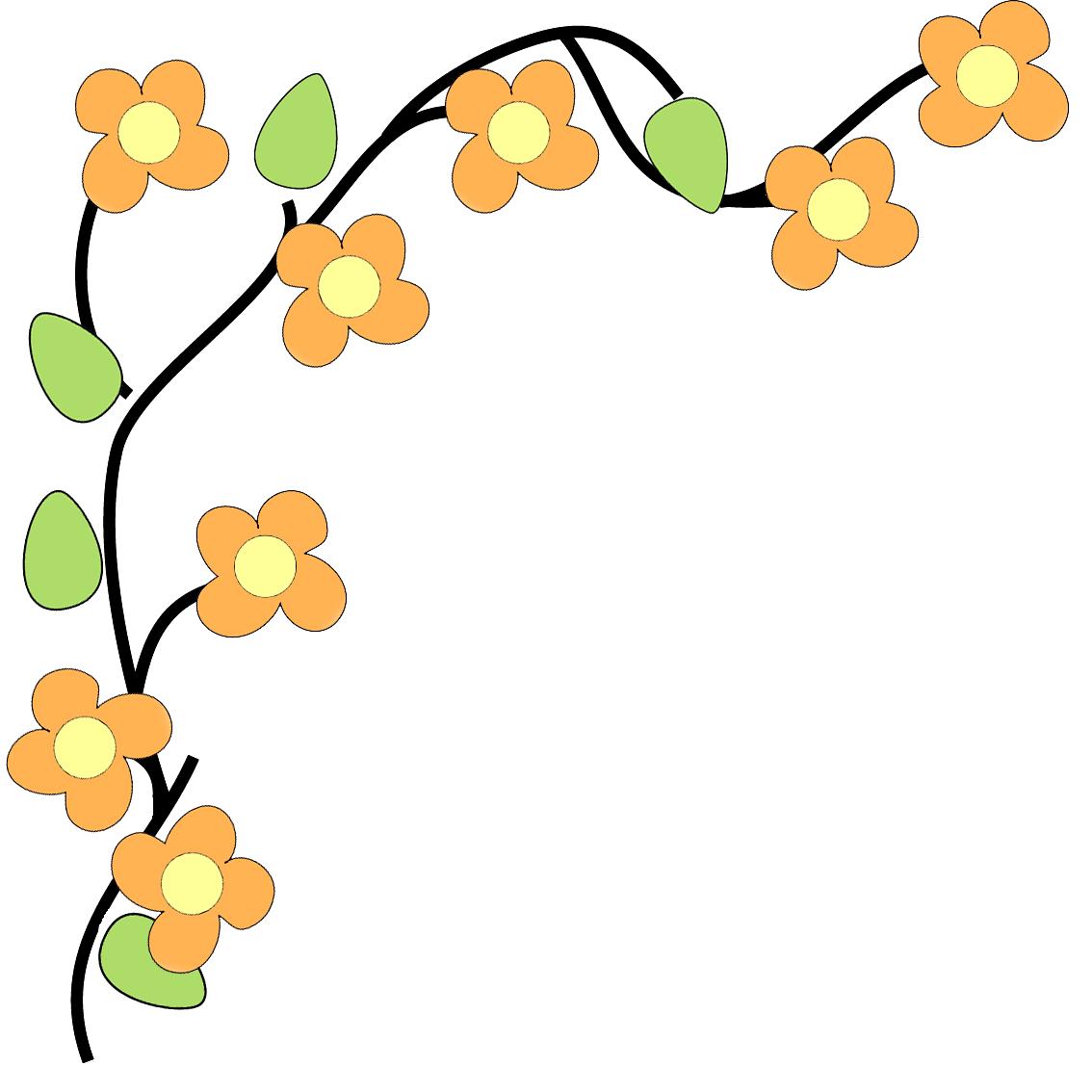 1134x1134 Corner Border Flower Border Flower Corner Clip Art Free Clipart