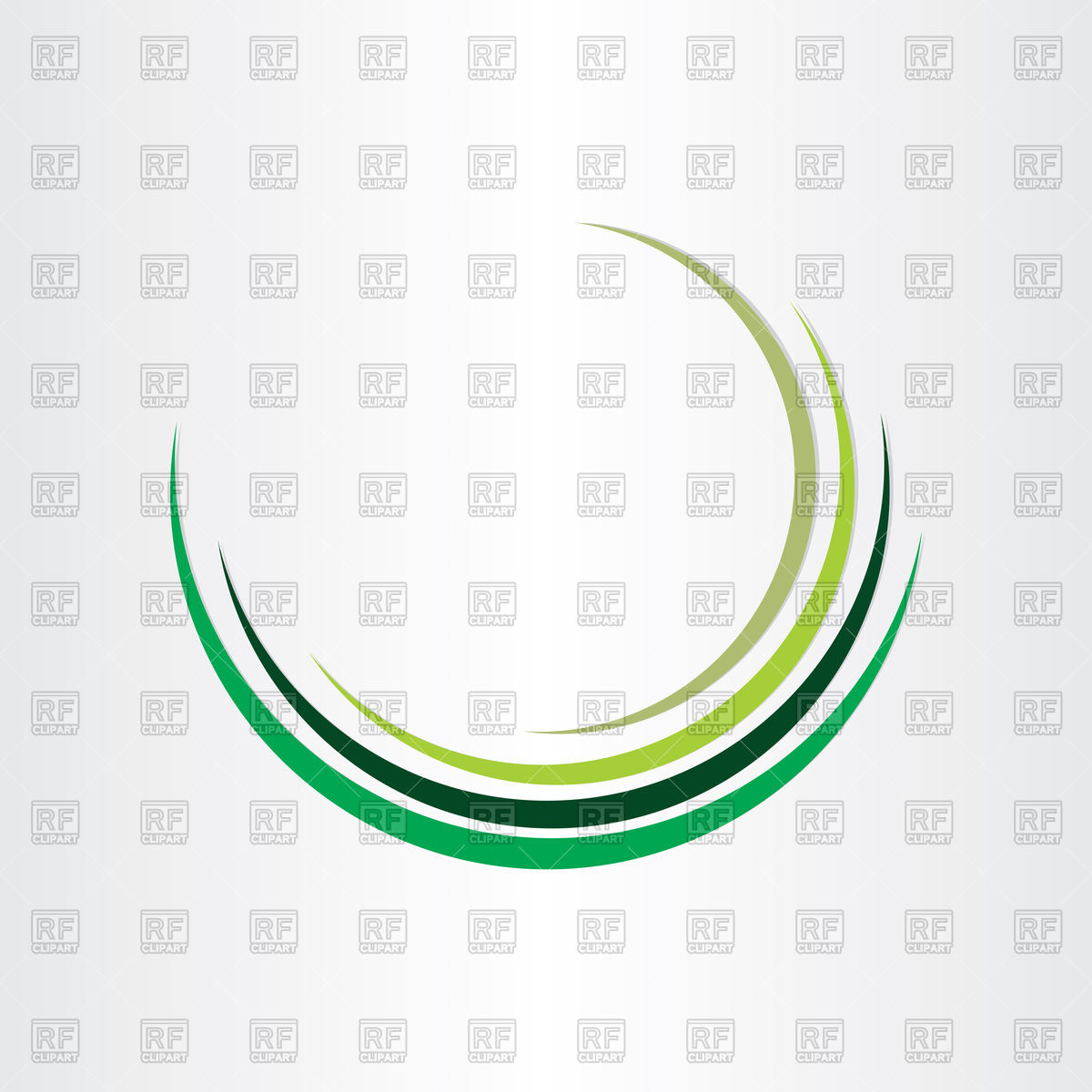 1200x1200 Green Half Circle Design Vector Image Vector Artwork Of Design