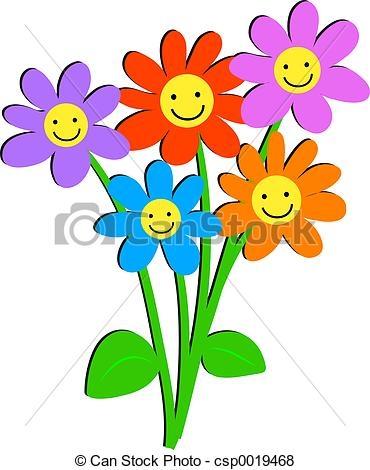 370x470 Happy Flower Clip Art Free