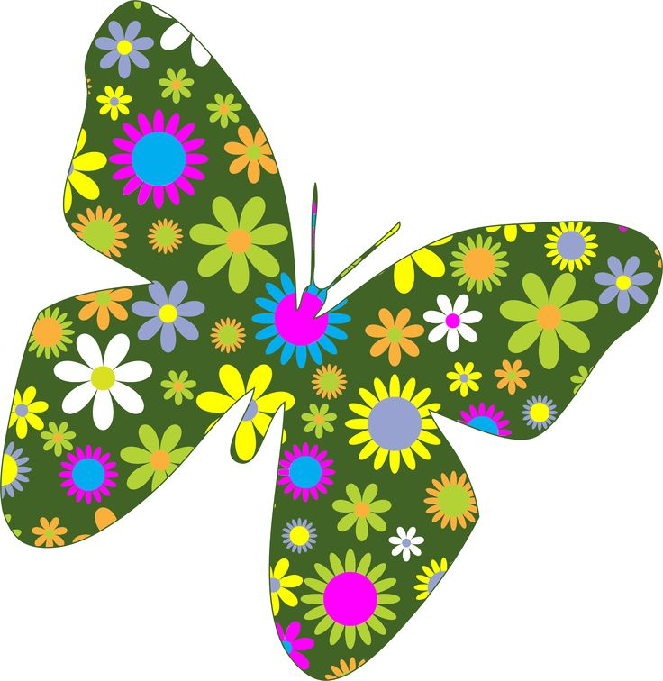 Free Clipart Flowers And Butterflies