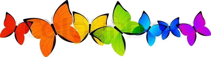 800x217 Rainbow Butterfly Clipart Border Amp Rainbow Butterfly Clip Art