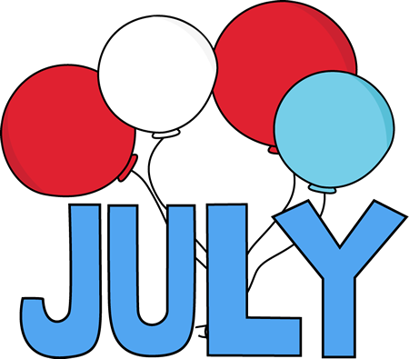 450x395 Free Month Clip Art Red White And Blue July Clip Art Image