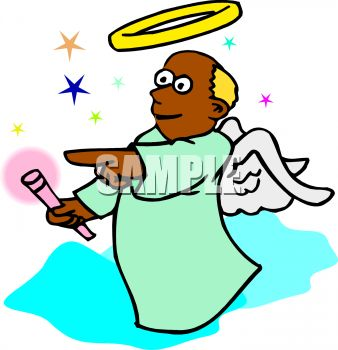338x350 Free African American Angel Clipart