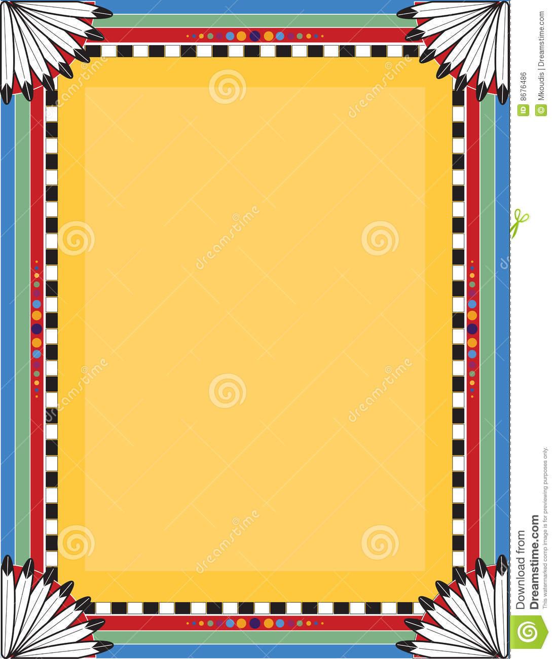 1095x1300 Native American Clipart Borders