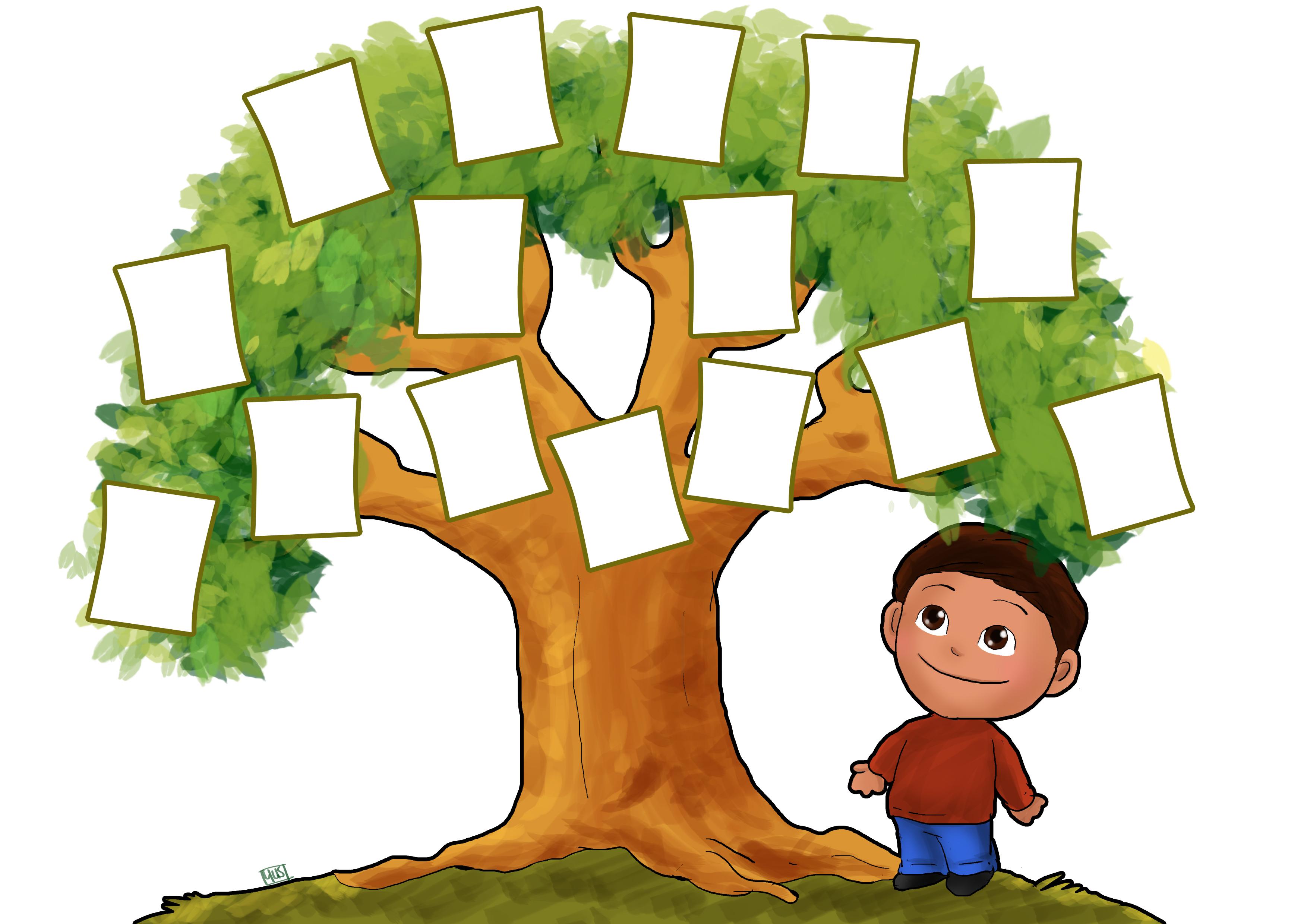3507x2480 Clip Art Family Tree Outline Clipart Panda