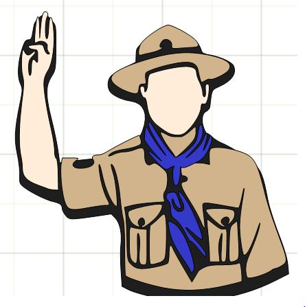 444x447 Clipart For Boy Scouts Hiking Scout Pencil And In Color – paberish.me