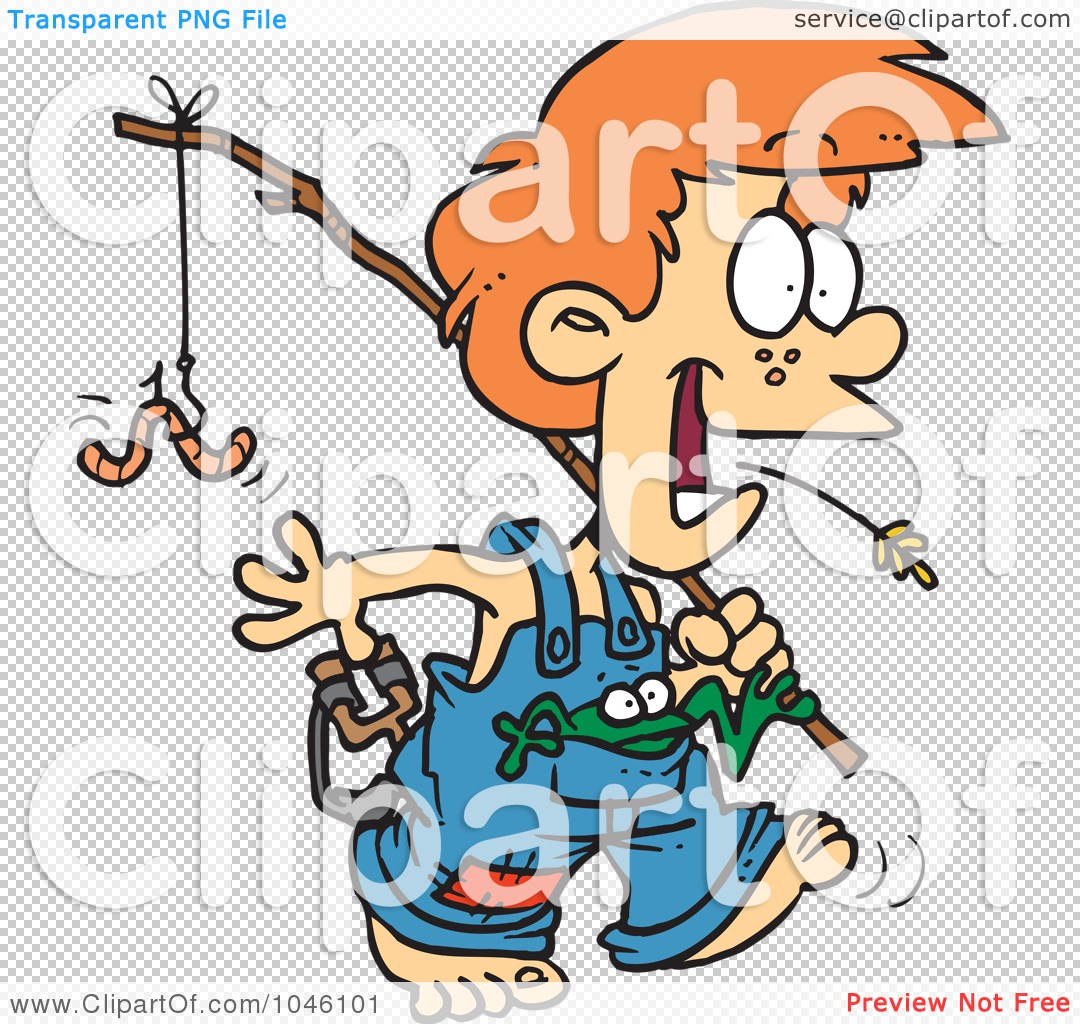 1080x1024 Royalty Free (RF) Clip Art Illustration of a Cartoon Country Boy