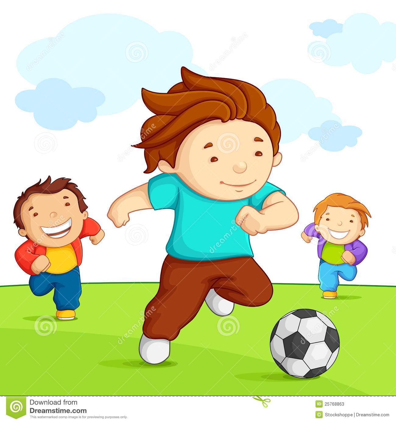 1300x1390 Boys playing soccer clip art clipart