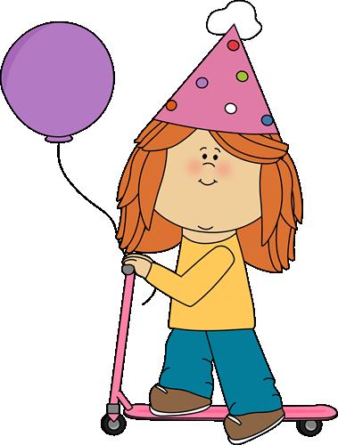379x500 Birthday Girl Clipart