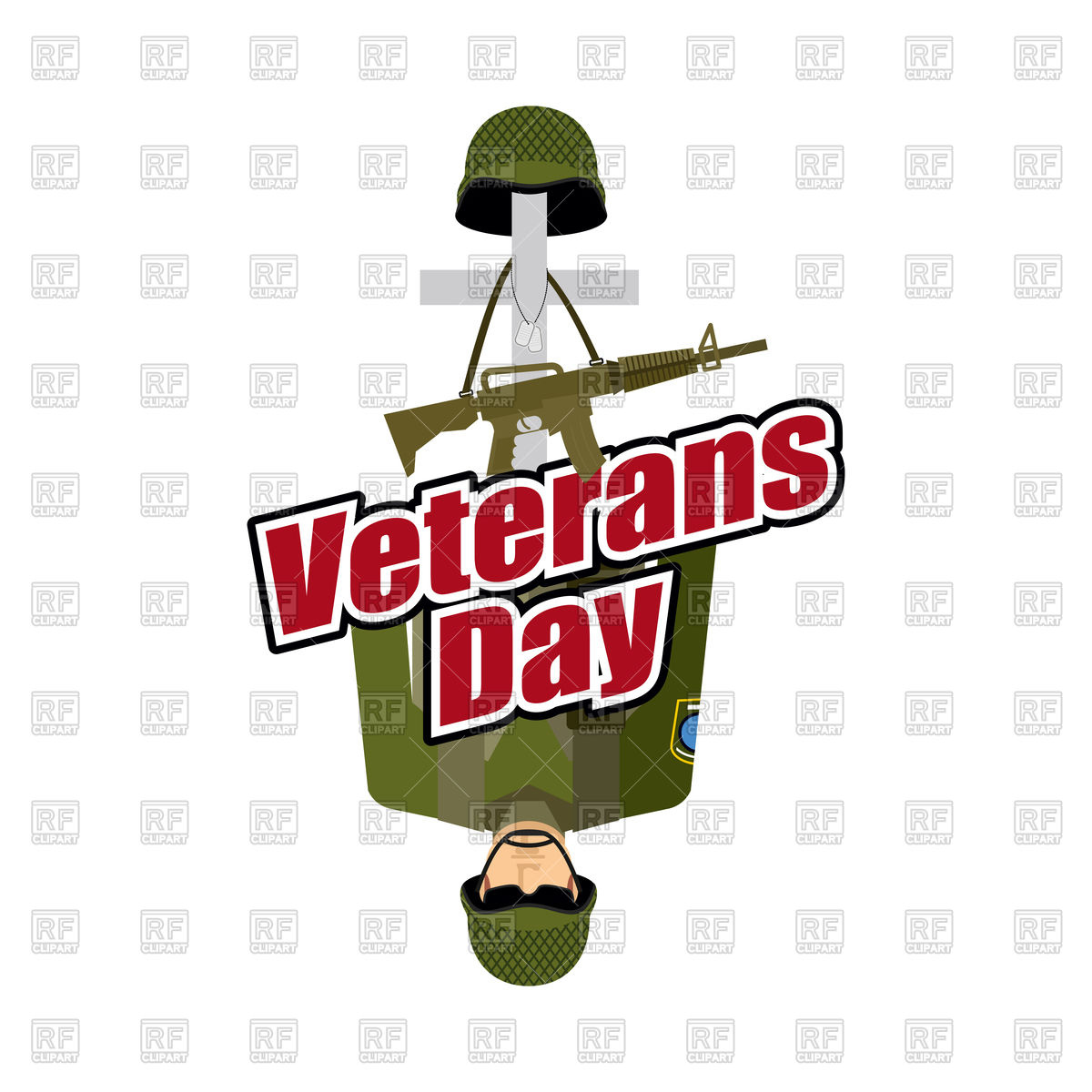 1200x1200 Veterans Day. Us Army Soldier And War Heros Grave. Royalty Free