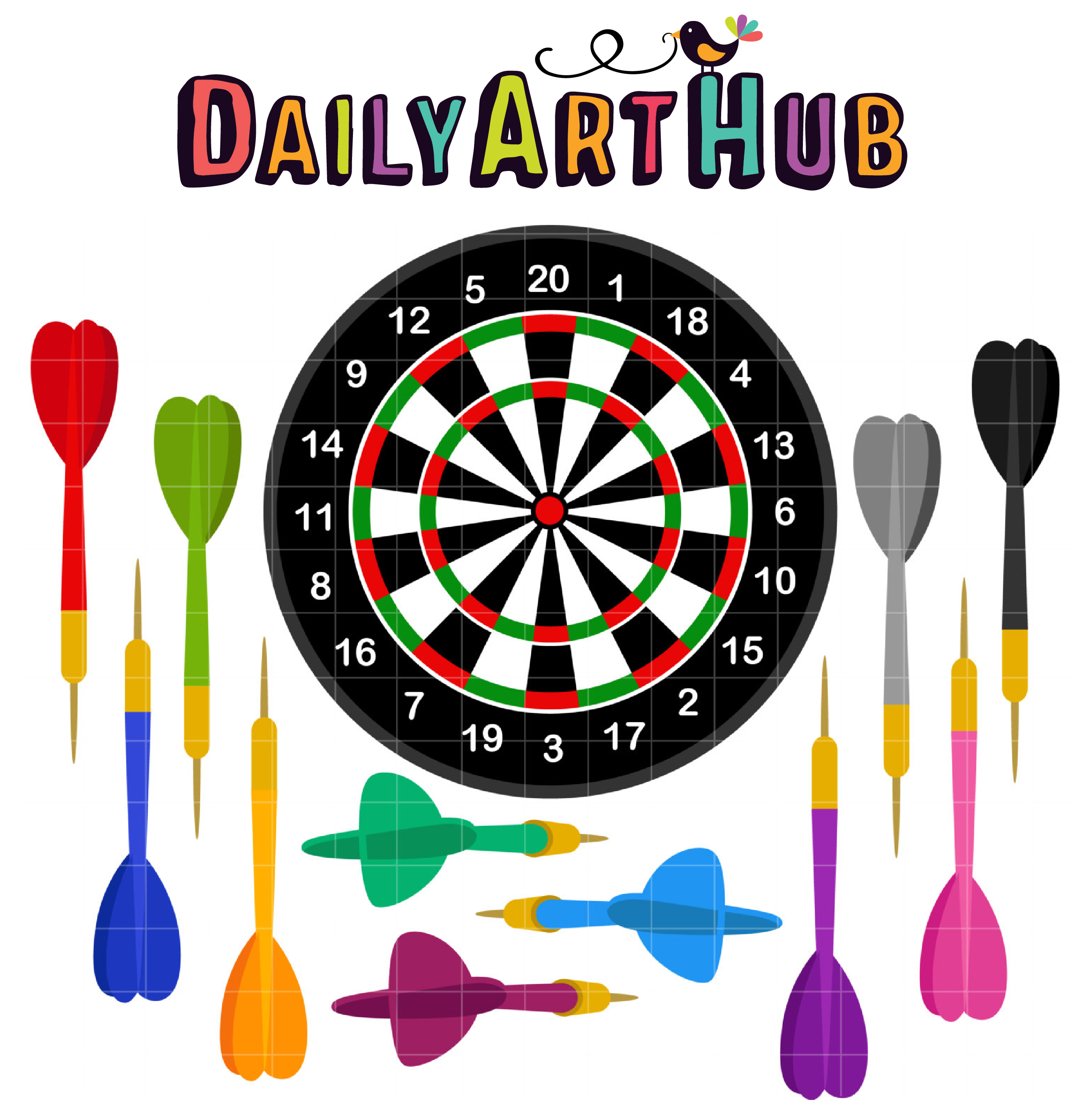 2497x2516 Darts Game Clip Art Set Daily Art Hub Free Clip Art Everyday