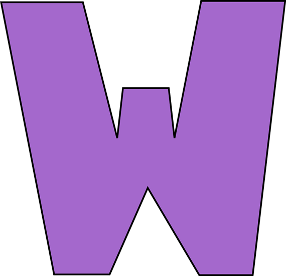 570x550 Clip Art W Purple Letter W Clip Art Purple Letter W Image
