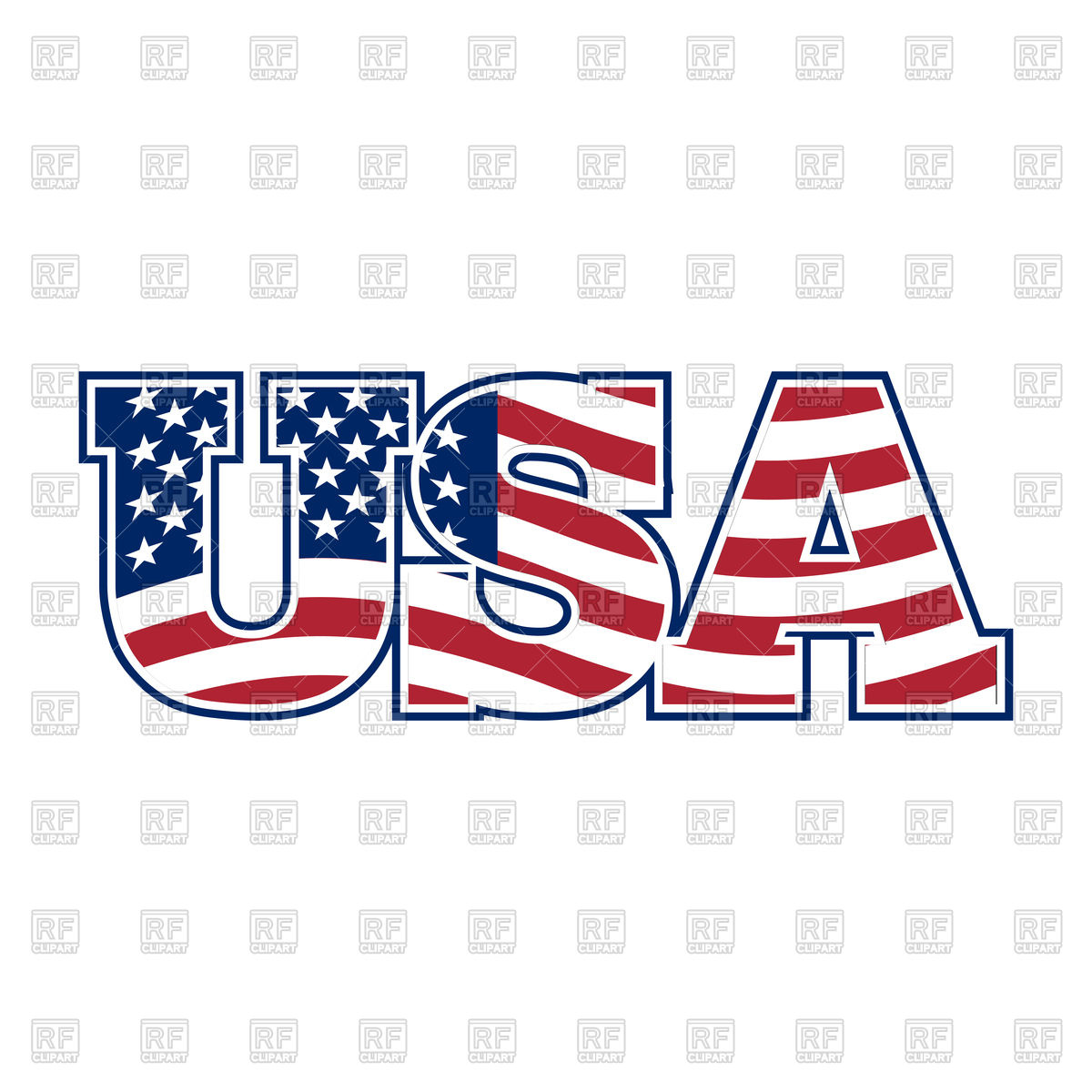 1200x1200 Usa Letters Royalty Free Vector Clip Art Image